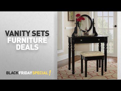 Walmart Top Black Friday Vanity Sets Furniture Deals: Linon Home Decor Lorraine Vanity Set, Multiple