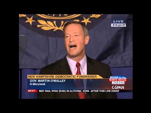 Gov. Martin O'Malley speaks in New Hampshire