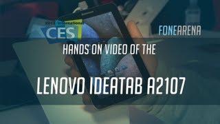 Lenovo IdeaTab A2107 Hands On