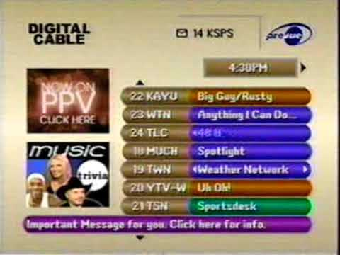 cable guide clip may 2 2001 youtube rh youtube com Charter Cable Program Listing Charter Cable TV