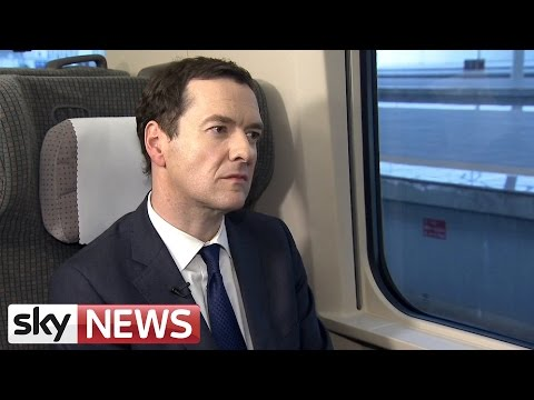 Chancellor George Osborne On His Visit To China
