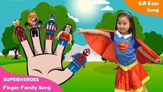 Finger Family song - Superheroes | Kinderlieder - EA Kids Song