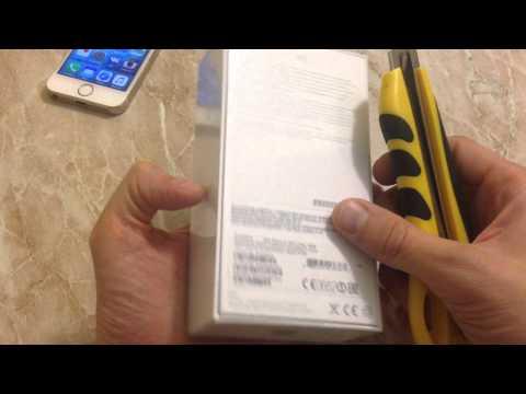 Распаковка IPhone 5S Space Gray как новый за 25990 в Связном.
