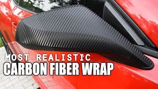How to Vinyl Wrap Side Mirrors with the Most Realistic Carbon Fiber Wrap!