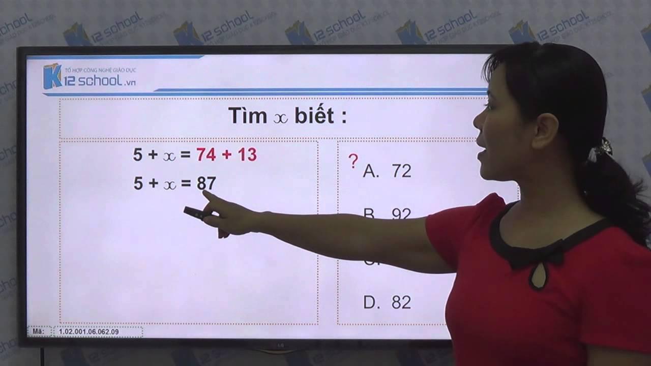 [Toán tiểu học] [Toán 2, Toán lớp 2] – Cách tìm một số hạng trong một tổng – [LIKA-K12School]