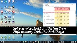 How To Fix Service Host Local System Error | High Memory, Disk, Network Usage