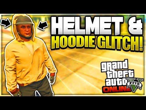 GTA 5 Online: Helmet With Hoodie Up Glitch!