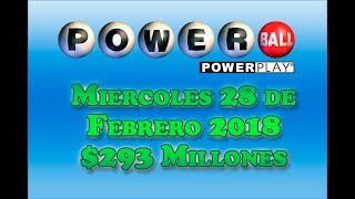 Gambar cover Resultados Powerball 28 Febrero 2018 $293 Millones - Powerball en Español
