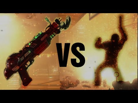 Ray Gun Mark II VS Brutus aka The Guard - Black Ops 2 Zombies Mob of the Dead Gameplay