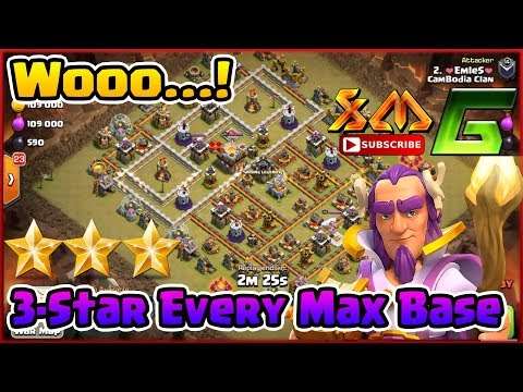 Clash of Clans⭐Elite War ! 3-Star Every Max Base TH11⭐Beautiful Strategy Attack !!