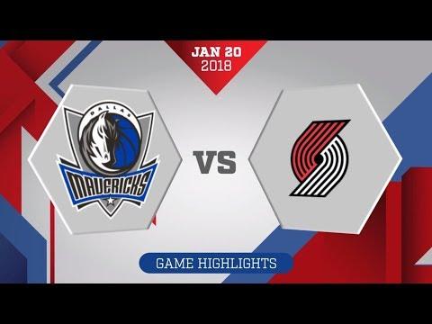 Dallas Mavericks vs. Portland Trail Blazers - January 20, 2018