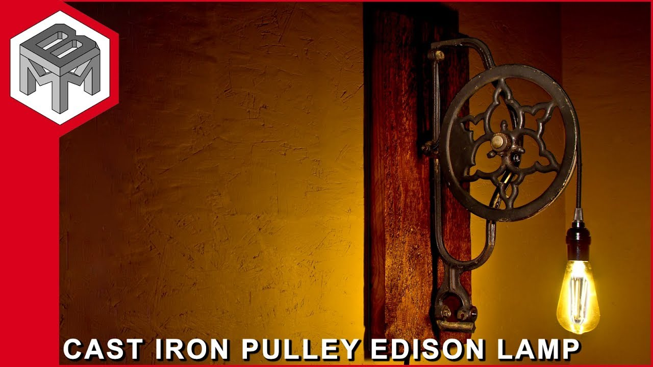 Industrial Cast Iron Pulley Edison Lamp Metal Woodworking How To
