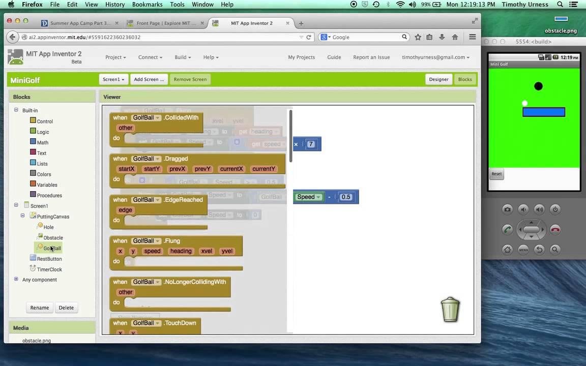 15-MiniGolf App Inventor Tutorial