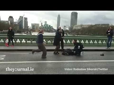 Scene on Westminster Bridge after 'terrorist incident' in London