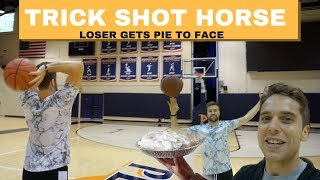 Trick Shot HORSE! Loser gets PIE TO FACE!