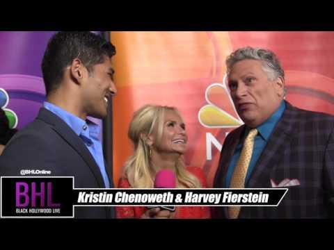 Kristin Chenoweth & Harvey Fierstein At the 2016 NBC Universal Summer Press Tour