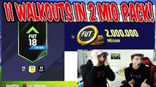 Das 1. 2.000.000 COINS PACK in FIFA 18 mit 11 WALKOUTS!