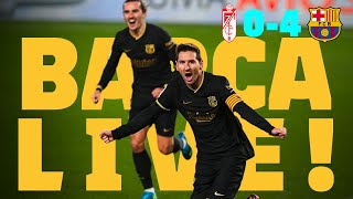 🔥 GRIEZMANN & MESSI masterclass! ⚽ BARÇA LIVE | GRANADA 0-4 BARÇA | Warm up & Match Center