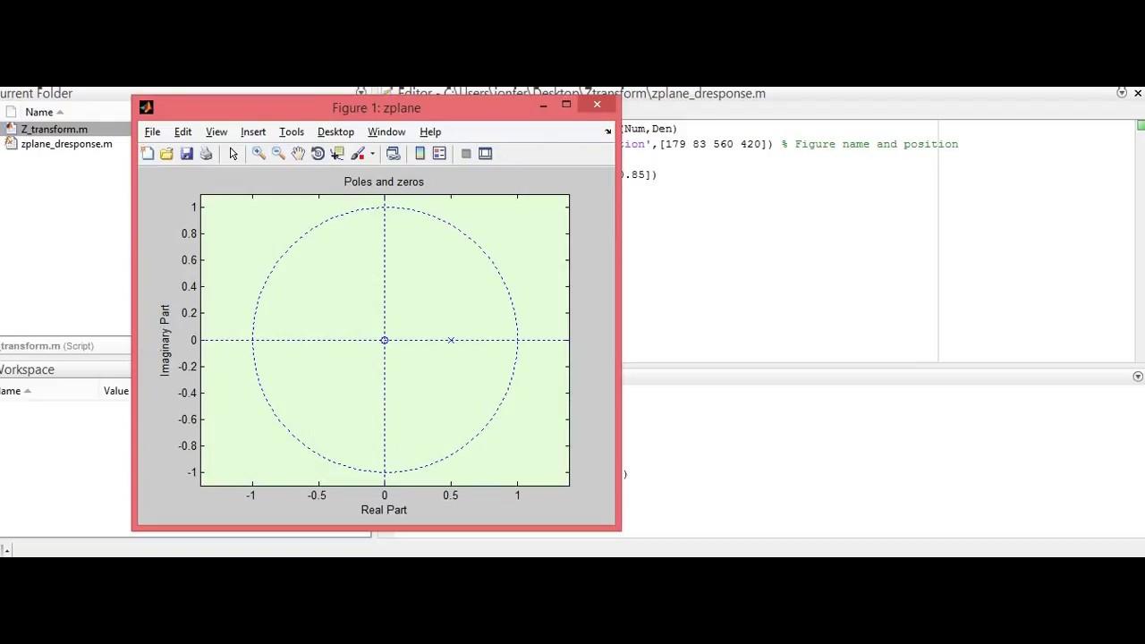 Pole zero diagram and impulse response matlab youtube pole zero diagram and impulse response matlab ccuart Images
