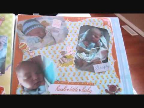 Baby Boy Homemade Scrapbook Youtube