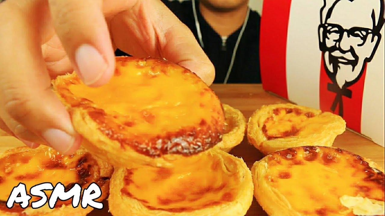 ASMR KFC EGG TART CRUNCHY SO YUMMY EATING SOUNDS NO TALKING MUKBANG 먹방