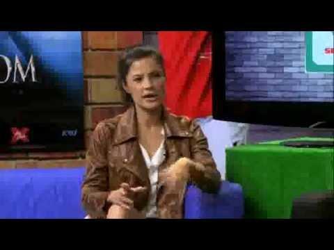 Getting to Know Natassia Malthe wearing LE ANN MAXIMA @ Astro Football Overload.