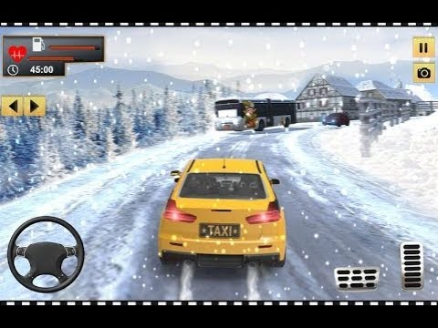 Crazy Taxi Driver 2018: City Cab Driving Simulator | Ford Focus Taxi Drift Snow Android Gameplay