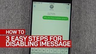 Disable iMessage easily when moving to Android