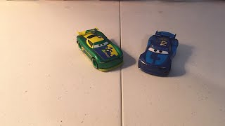 Disney Pixar cars 3 Eric braker and Spikey fillups diecast review