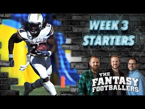Fantasy Football 2016 - Starts of the Week, Week 3 Matchups, Debate - Ep. #270