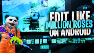 Edit montages like Million roses on  android | Velocity edits on android | Alight motion
