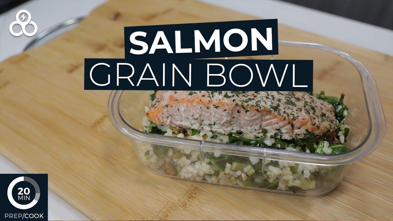 Easy Meal Prep Salmon Grain Bowl Recipe