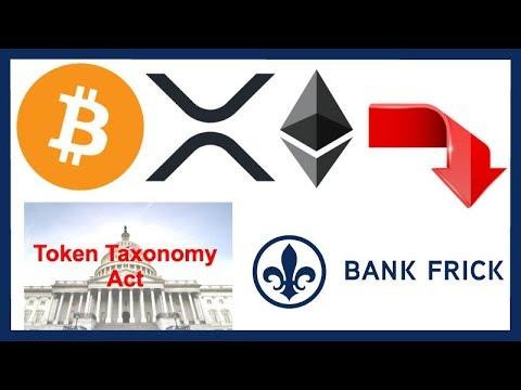 Crypto Market DUMP - Token Taxonomy Act - Bank Frick Institutional Crypto - Russian Crypto Reg