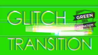 Glitch Transition - Green Screen Footage [ Final Cut & After Effects ]
