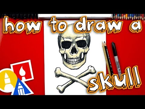 How To Draw A Realistic Skull And Crossbones