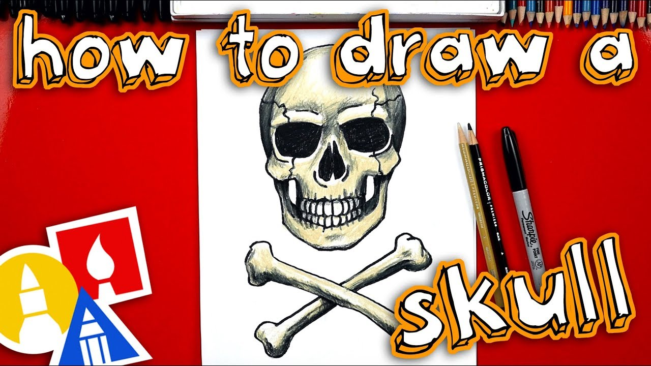 How To Draw A Realistic Skull And Crossbones Youtube