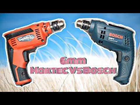 Bor (Drill) 6mm BOSCH GBM 6 (GBM 6RE) VS Maktec MT653