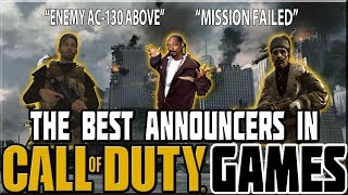 BEST ANNOUNCERS IN CALL OF DUTY GAMES!