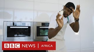 How Hungry Are You? Serge Ibaka, the NBA champion cooking 'crazy' food on YouTube - BBC Africa