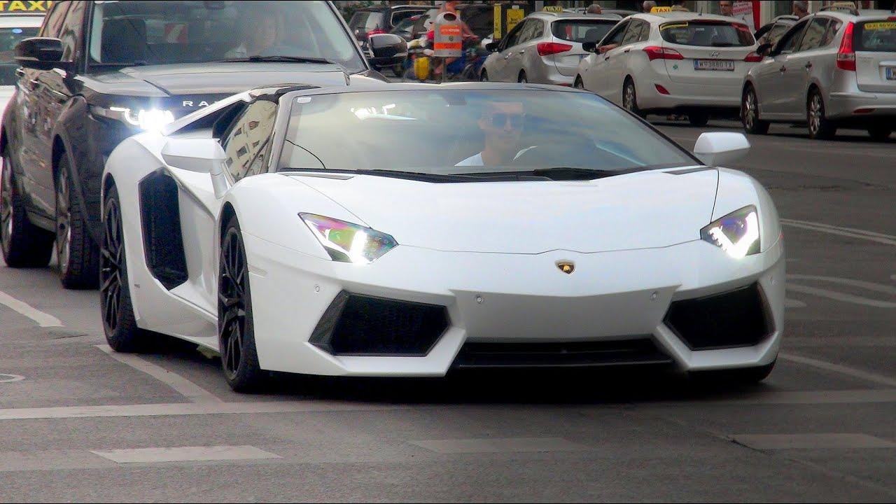 lamborghini aventador roadster loud sound youtube - Lamborghini Aventador Roadster White