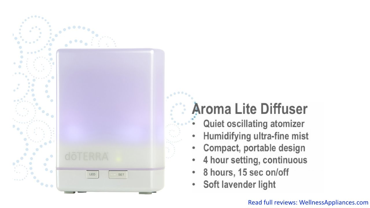 Aroma Light Diffuser ~ Doterra aroma lite essential oil diffuser review youtube