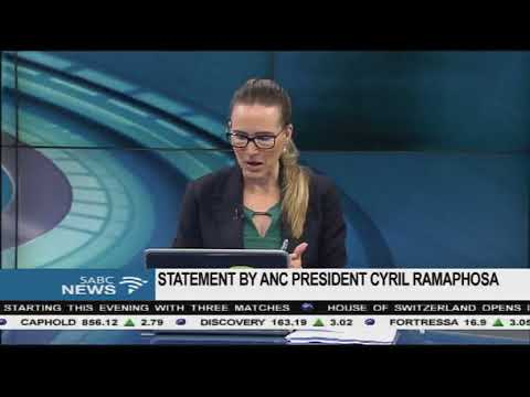 Cyril Ramaphosa releases a statement