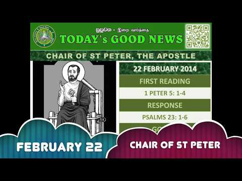 ENGLISH - 22 FEB 2018 - CHAIR OF ST PETER