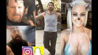 WWE Snapchat/IG ft. Dean Ambrose, Stone Cold, Big Show, Maryse, Kofi Kingston, Jericho n MORE