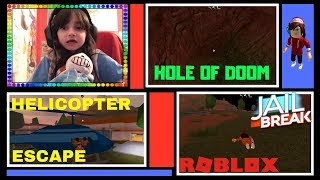 HELICOPTER ESCAPE AND HOLE OF DOOM!!! - Roblox - Jailbreak!