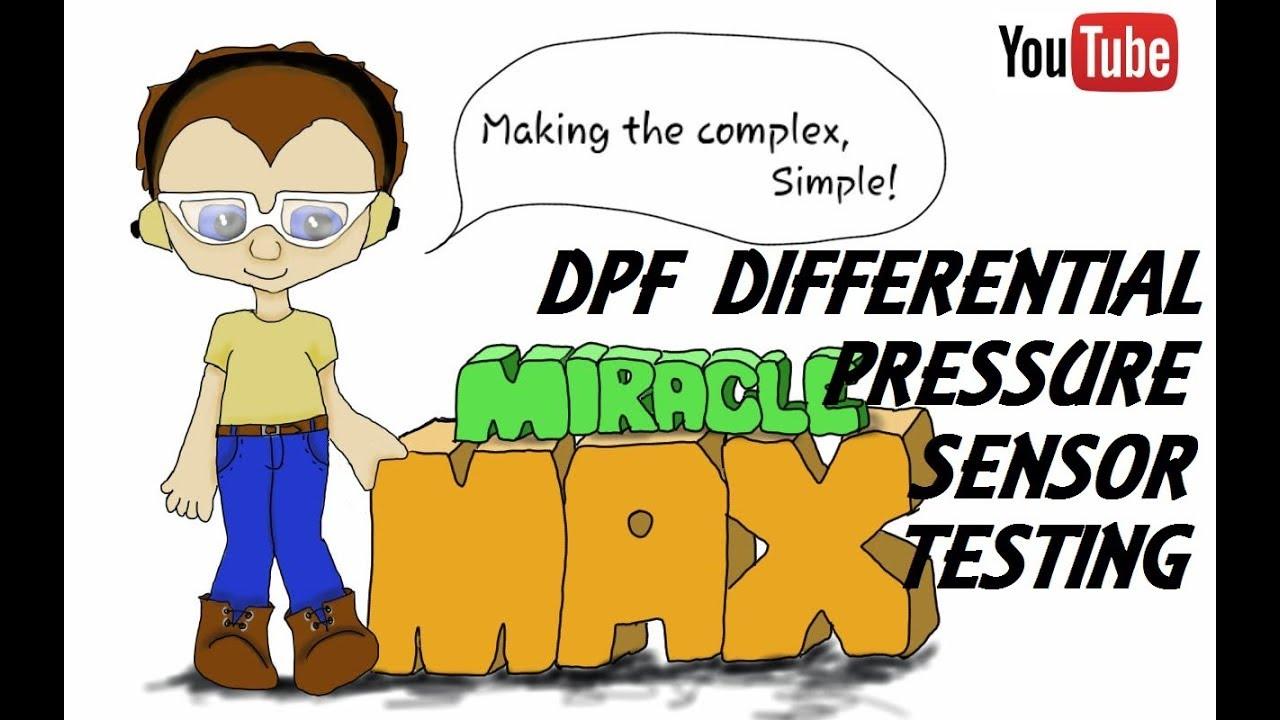DPF Differential Pressure Sensor Testing MiracleMAX