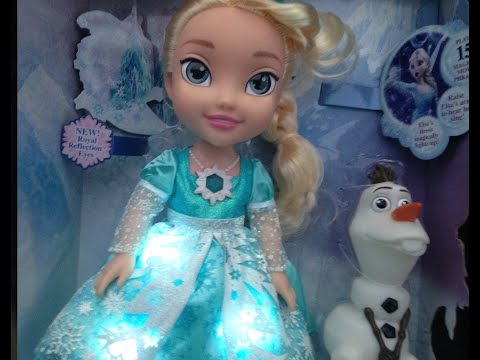 Frozen Singing Elsa Toddler Doll Lights Up Review