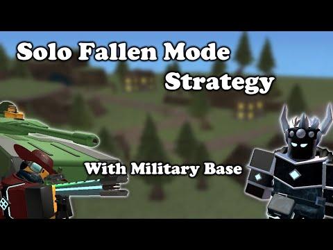 SOLO Fallen Mode Triumph With Military Bases || Tower Defense Simulator |