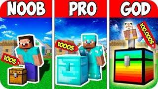 Minecraft NOOB vs PRO vs GOD : BUY TOP-PRICED BLOCK CHEST | CHALLENGE