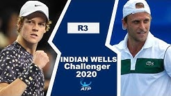 Jannik Sinner vs Denis Kudla | CHALLENGER INDIAN WELLS 2020